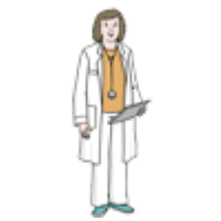 Hier sieht man eine Ärztin.