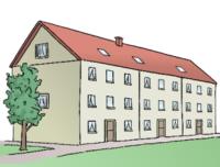 Hier sieht man ein Mehr-Familien-Haus