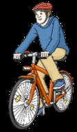 Hier sieht man einen Rad-Fahrer